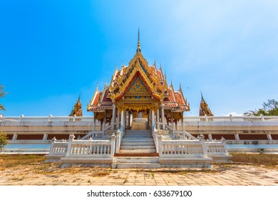 amazing architect pavilions stupa  pagodas statues arch Castle Tower palace sculpture church  garden and pool are build inside of Phai Rong Wua temple.