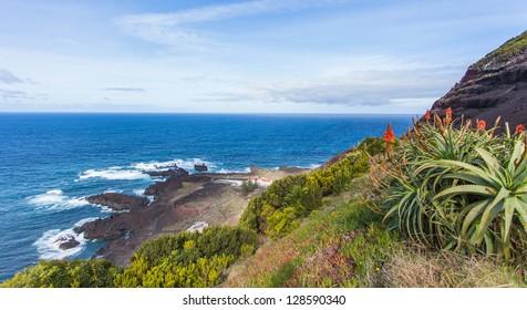 Amazing atlantic ocean view, San Miguel (Sao Miguel) island, Azores