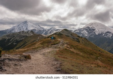 Amazing autumnal view of mountains. Tatry