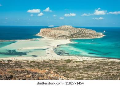 Amazing Balos beach in Western Crete, Greece