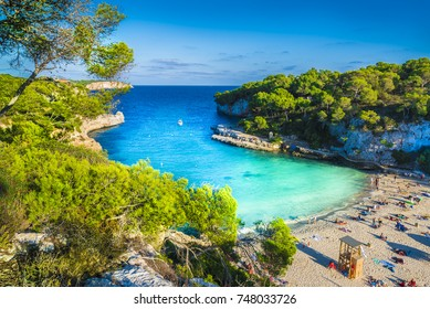 Amazing beach of Cala Llombards, Majorca island, Spain