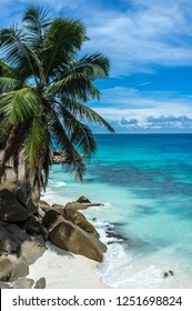 Amazing beach landscape in La Digue, Seychelles