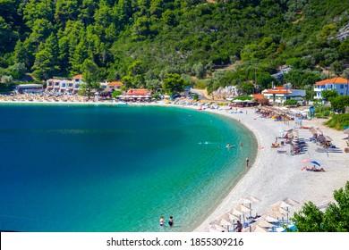 Amazing beach of Panormos, Skopelos, Greece.