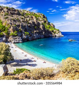 amazing beaches of Greek islands. Karpathos, Achata