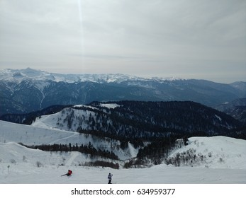 The amazing beauty of the great mountains (Olympic park)