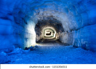 Amazing beauty inside the Langjokull glacier tunnel