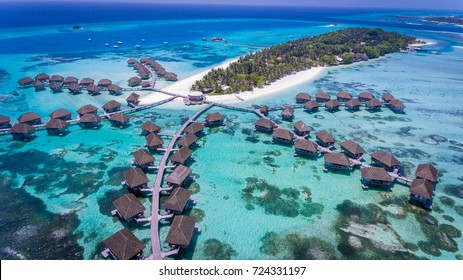 Amazing bird eyes view in Maldives
