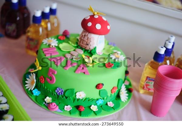 Wondrous Amazing Birthday Cake Fine Details Fairy Stock Photo Edit Now Funny Birthday Cards Online Benoljebrpdamsfinfo