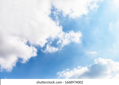 Amazing blue sky with white clouds. Beautiful sky background