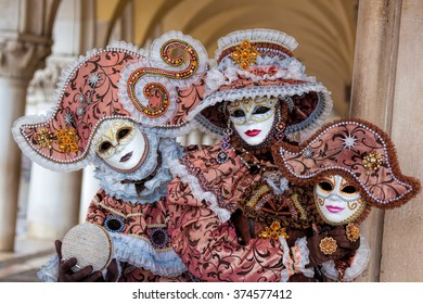 Amazing carnival mask in Venice, Italy