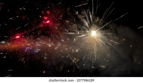 Amazing close up of fireworks that looks like deep space. Backgrounds and banners