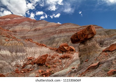 Amazing close-up if the colorful layers and rock formations of Grand Staircase-Escalante National Monument in Paria Utah, USA.