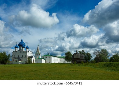 Amazing clouds over the Suzdal Kremlin