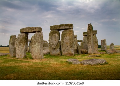 Amazing cloudy close-up of Stonehenge in Wiltshire, England U.K.
