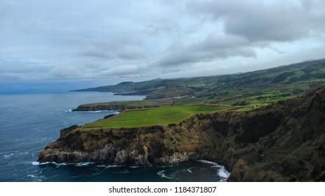 Amazing coastline in S.Miguel Island Azores Portugal