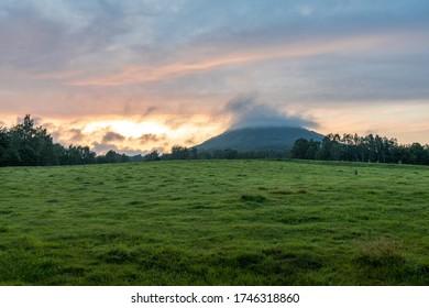 Amazing colorful dramatic sunset at Ruzovy vrch in Bohemian Switzerland - Shutterstock ID 1746318860