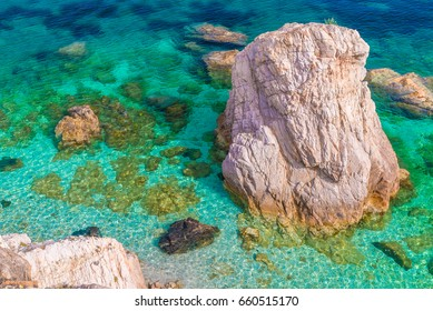Amazing colour of water in Elba island, Italy.