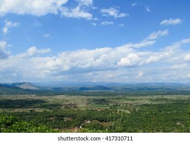 Amazing Croatian countryside panorama