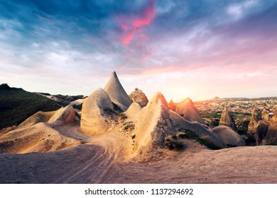 Amazing day in Cappadocia, Turkey. Landscape photography