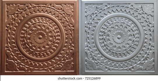 amazing detailed closeup view of dark brown color interior decorative ceiling tiles luxury background