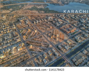 the amazing drone shot of the beautiful streets in karachi shaped lie a daimond