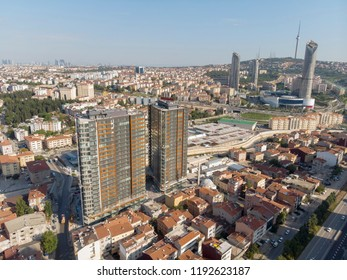 Amazing drone view Fikirtepe urban transformation and new buildings at Kadikoy Istanbul