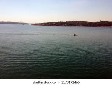 Amazing drone view seaside at Beykoz Istanbul