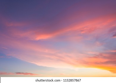 amazing dusk sky in the evening