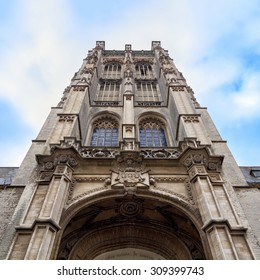 Amazing facade of St. James' Church, view from below