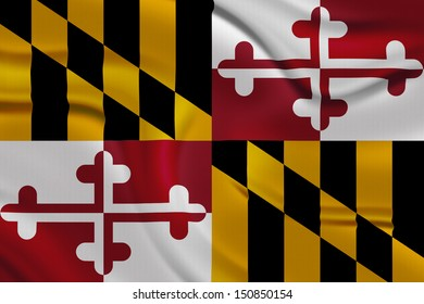 Amazing Flag of Maryland , USA