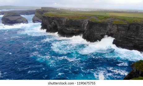 Amazing flight along the cliffs of Ireland at the west coast
