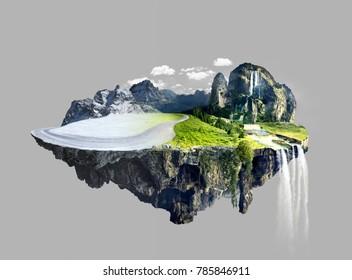 Amazing floating island , summer to winter