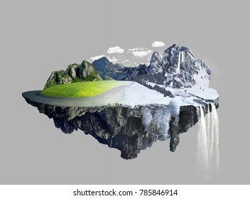 Amazing floating island , summer to winter
