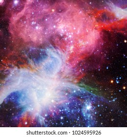Amazing galaxy. Stars, nebula and gas. Space background. The elements of this image furnished by NASA.