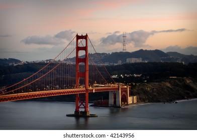 Amazing Golden Gate Bridge in San Francisco Bay