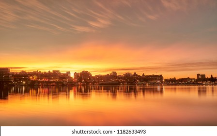 Amazing golden sunrise