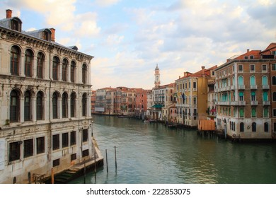 amazing great canal in the lagoon city of Venice, Italy