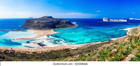Amazing Greece- most beautiful beaches. Impressive Balos bay, Creece