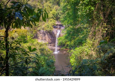 Amazing Haew Suwat Waterfall in the deep forest at Khao Yai National Park, Pak Chong, Thailand.Amazing Haew Suwat Waterfall in the deep forest at Khao Yai National Park, Pak Chong, Thailand.