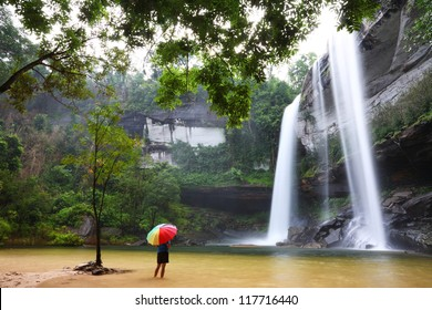 Amazing of Huai Luang Waterfall in Ubon Ratchathani, Thailand