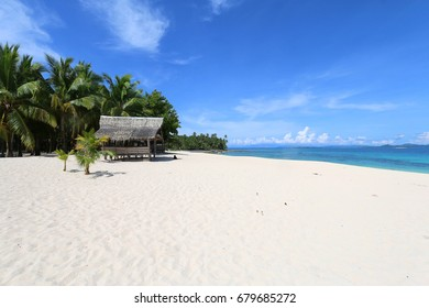 Amazing island with white sandy beach, Philippines