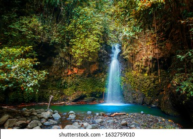 Amazing Kalibendo Waterfall Of Banyuwangi, A Waterfall In The Middle Of Tropical Rainforest In Indonesia