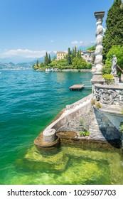 amazing lake Como in Varenna village, Italy