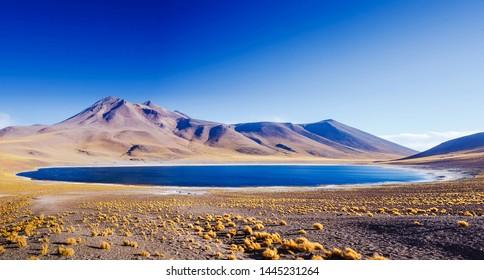 Amazing Lake Miscanti in the highlands of Chile near San Pedro de Atacama