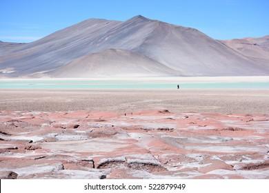 Amazing landscape in Atacama desert Chile