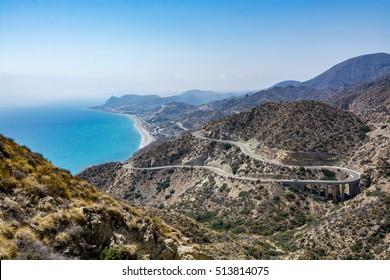 Amazing landscape of Cabo de Gata Natural Park (Cabo de Gata-Nijar), Almeria region, Spain