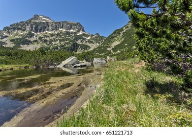 Amazing Landscape of Dzhangal peak and Banski lakes, Pirin Mountain, Bulgaria