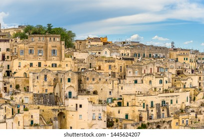 Amazing landscape with Matera, Italy - European capital of culture in 2019