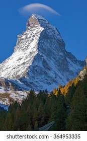 Amazing landscape of Matterhorn from Zermatt, Alps, Switzerland