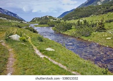 Amazing landscape with Mountain river in Pirin Mountain, Bulgaria